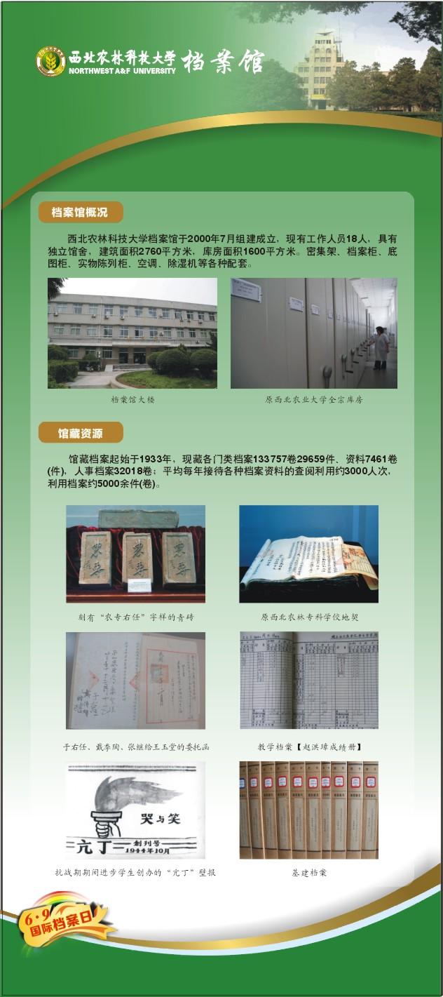 国际档案日档案馆宣传展板